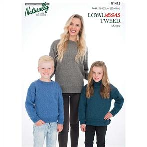 Naturally N1415 - Family Sweater - Knitting Pattern