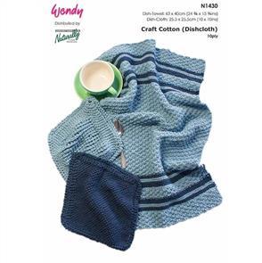 Wendy Pattern N1430 Dish-Cloths & Dish Towel