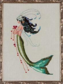 Mirabilia  Cross Stitch Chart + Bead Pack - Mermaid Verde