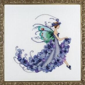 Mirabilia  Cross Stitch Chart + Bead Pack - Wisteria