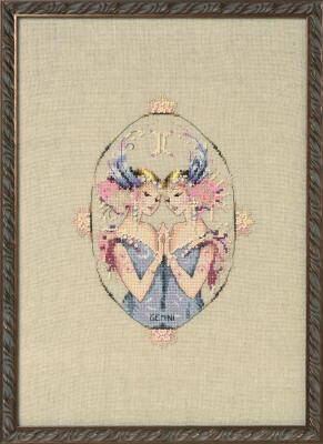 Mirabilia  Cross Stitch Chart + Bead Pack - Gemini