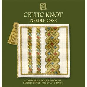 Textile Heritage  Cross Stitch Kit Needle Case - Celtic Knot