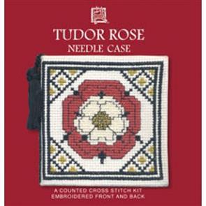 Textile Heritage  Cross Stitch Kit Needle Case - Tudor Rose