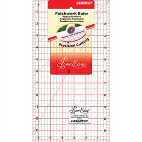 "Sew Easy  Patchwork Quilt Ruler - 12""X6.5"""