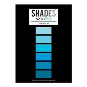 Shades Paper Pad - A4 Blue - 24 Sheets