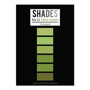 Shades Paper Pad - A4 Olive Green - 24 Sheets