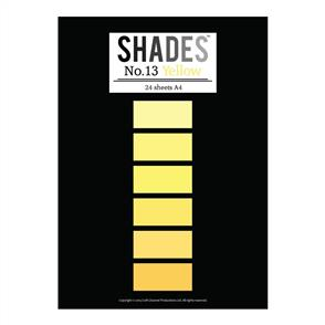 Shades Paper Pad - A4 Yellow - 24 Sheets