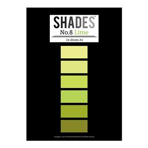 Shades  Paper Pad - A4 Lime - 24 Sheets