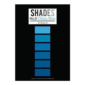 Shades Paper Pad - A4 China Blue - 24 Sheets