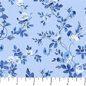 Northcott  - Porcelain Blue - 20696 Blue