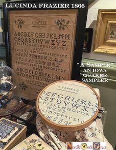 "Needle Work Press  ""A Sample"" Lucinda Frazier 1866"