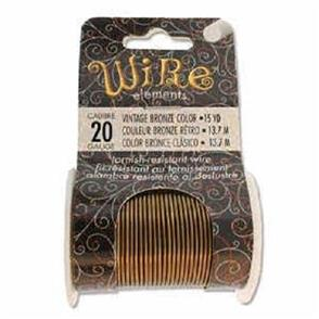 Beadsmith  20 Gauge Wire Elements - Vintage Bronze Color - 15yd