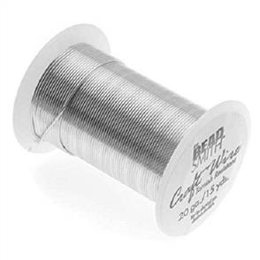 The Beadsmith 28 Gauge - Silver Color Wire