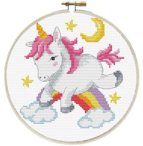 Needle Art World  No-Count Cross Stitch Kit - Unicorn Frolic