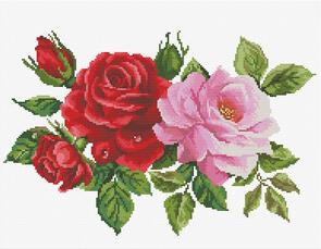 Needle Art World  No-Count Cross Stitch Kit - Rose Bouquet
