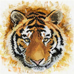 Needle Art World  No-Count Cross Stitch Kit - Tiger Charge