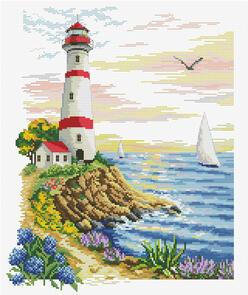 Needle Art World  No-Count Cross Stitch Kit - Lighthouse Cape