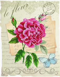 Needle Art World  No-Count Cross Stitch Kit - Rose Bloom