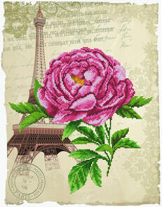 Needle Art World  No-Count Cross Stitch Kit - Romantic Rose