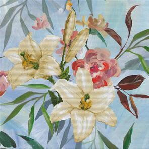 Needle Art World No-Count Cross Stitch Kit - Wild Lilly Bouquet