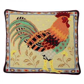 Jolly Red Tapestry Kit - Old English Cockerel