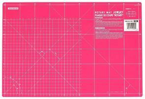 """OLFA Gridded Cutting Mat 12"""" x 18"""" Pink"""