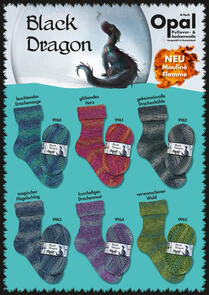 Opal Sock Wool - Black Dragon