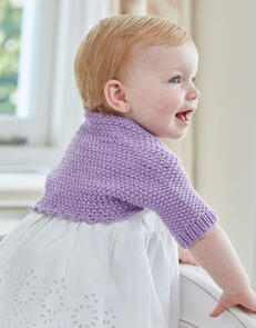 Sirdar Baby Girl's Bolero in Snuggly Cashmere Merino Knitting Pattern
