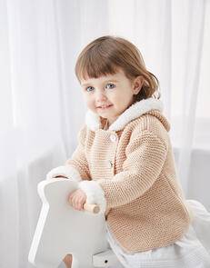 Sirdar Baby's Hooded Jackets in Snuggly Cashmere Merino & Bunny Pattern