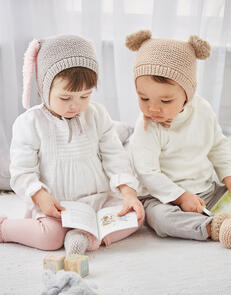 Sirdar Baby Hats & Bootees in Snuggly Cashmere Merino & Bunny Pattern