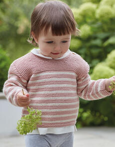 Sirdar Baby Striped Jumper in Snuggly Cashmere Merino Knitting Pattern