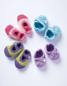 Sirdar Baby Shoes with Straps in Snuggly Cashmere Merino Knitting Pattern