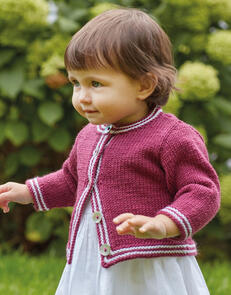 Sirdar Baby Cardigan in Snuggly Cashmere Merino Knitting Pattern