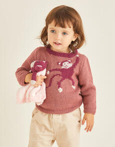 Sirdar Monkey Sweater in Snuggly Cashmere Merino & Snuggly Bunny Pattern