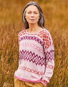 Sirdar Fairisle Slouchy Sweater in Country Classic 4 Ply Pattern