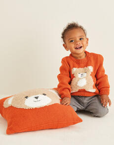 Sirdar Teddy Sweater in Snuggly Cashmere Merino & Snuggly Bunny Pattern
