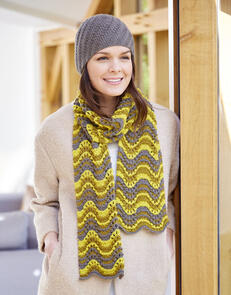 Sirdar Scarf & Hat in Country Classic DK Pattern