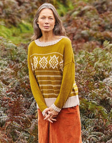 Sirdar Fairisle Striped Slouchy Sweater in Country Classic 4 Ply