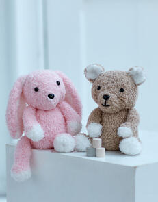 Sirdar Toy Bear & Bunny in Snuggly Bunny Knitting Pattern