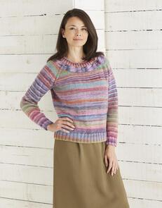Sirdar Top Down Sweater in Jewelspun Aran