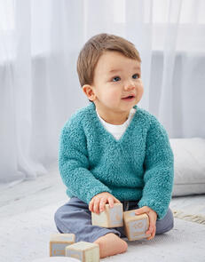 Sirdar Baby Sweaters in Snuggly Bunny Knitting Pattern