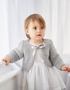 Sirdar Baby Girl's Boleros in Snuggly Bunny Knitting Pattern