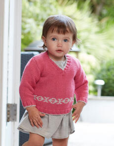 Sirdar Baby V Neck Jumper & Tank in Snuggly Cashmere Merino Knitting Pattern