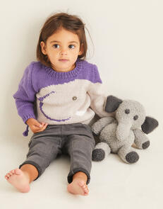 Sirdar Elephant Sweater in Snuggly Cashmere Merino & Snuggly Bunny Knitting