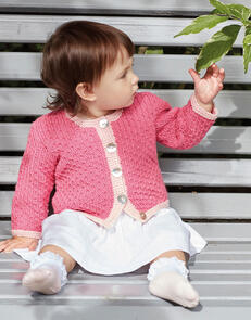 Sirdar Baby Two Colour Cardigan in Snuggly Cashmere Merino Knitting Pattern