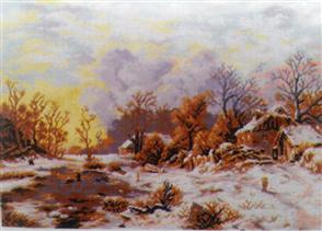 Orchidea Needlepoint Canvas - Winter Landscape