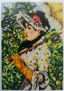 Orchidea  Needlepoint Canvas - Lady