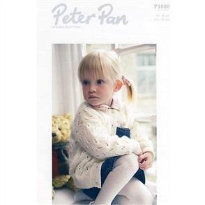 Peter Pan  Pattern P1000 Girl's Round Neck Cardigan