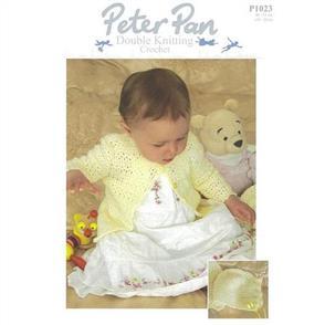 Peter Pan Pattern P1023 Crochet Matinee Coat and Bonnet