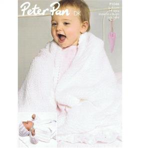 Peter Pan P1046 Matinee Coat, Angel top, Mittens, Bootees and Shawl